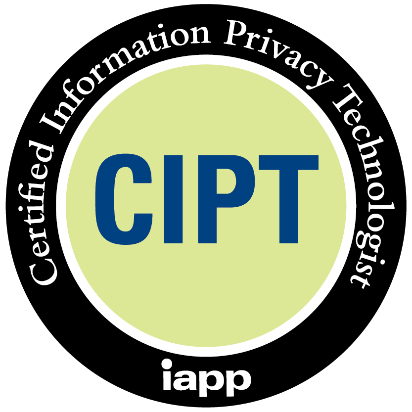 CIPT - Certified Information Privacy Technologist (iapp) accreditation badge