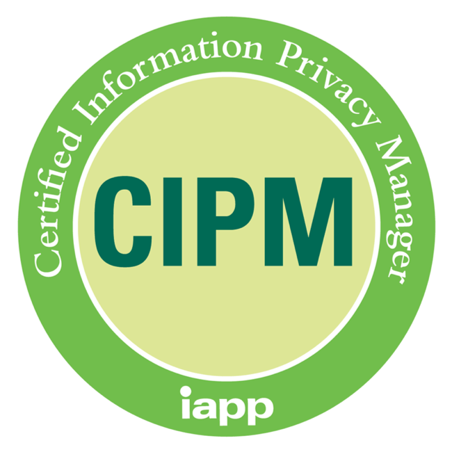 CIPM - Certified Information Privacy Manager (iapp) accreditation badge